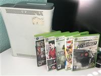 Shex Xbox 360 me HDD dhe 5 lojera DVD