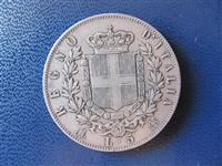 Itali 5 Lire 1875 argjend