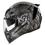 Bell Riot Checks Motorcycle Helmet Black Silver