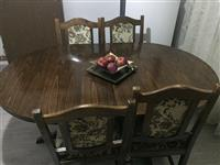 Shitet tavolina me karriga