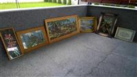 Piktura muri te vjetra te punuara ne dore.