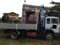 kamion iveco 115/17    kiper dhe kran