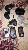 3 telefona  dhe adapter