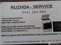 Instalime elektrike dhe ujit,rregullim i paisjev..