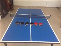Ping Pong me 6 riketa Dhe topa ,tabela shum e mir