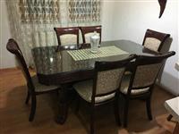 Shitet Tavolina me gjashte karrige