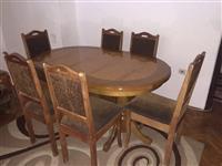 Shitet tavolina + 6 karriga