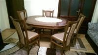Tavolin ( trapezari) buke me 6 karrika