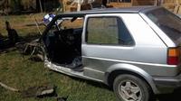 Golf 2 te aksidentuar per pjes