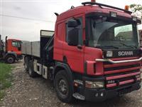 Scania 114 G Kiper-kran