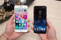 Telefona iPhone dhe Samsung