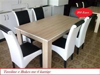 Tavoline e bukes me 6 karrige