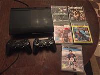 Sony ps3 me dy dorza me 5 loja ne gjendje perfekte