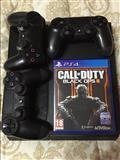 PS4 me tre gjystika dhe nje CD Black OPS.