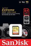 SD Extreme Sandisk 64GB, 4K