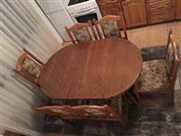 Komod salloni & Tavolin buke