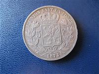 Belgjike 5 Frank 1873 argjend