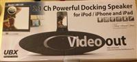 Powerful Docking Speaker per iPhone, iPad dhe iPod