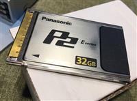 panasonic 32 gb memory card p2