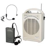 Amplifier me bateri, kufje, me mikrofon-Zmadhues