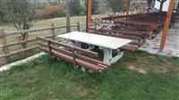 Tavolina per restorante,oborr, kopshte,pushimore e