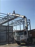 Kamion me kran Transport ne ter teritorin e kosove