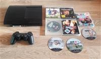 PS3 Super Slim 8 CD lojra 120€