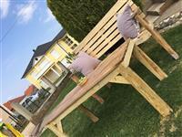 Tavolin Dhe Karrige nga Druri (Punëdore)