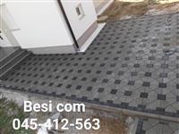 Rregullimi i oborreve me kubza te betonit(kocka)