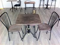 tavolina prej graniti karrika dhe  shankerica
