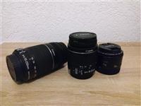 Objektiv/Lens Canon 50mm f1.8 , 18-55 dhe 55-250mm
