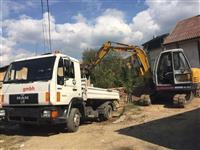 Punojm me bagera dhe kamiona