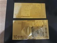 zlatne novcanice 5 i 10 eura