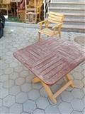shiten 4 tavolina me 16 karrika drurit