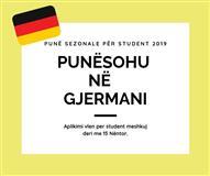 Punesim Sezonal per Studenta 2019