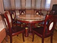 Shes Tavolinen me 6 karrige