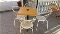 4 tavolina perfekte me karrika super lir dhe tmira