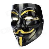 Mask Vip Anonymous Ngjyrë : Gold + Black