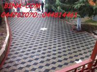 Rregullimi oborrev me kubza te betonit (kocka)