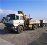 Kamion me kran vinc Iveco Turbo kiper