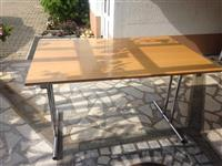 Tavolina druri me skelet metalik