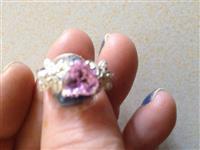 Unaza me gure roz dhe tjetra ngj. Hiri Opal Arg925
