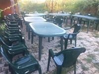 Tavolina dhe karrika me qera 045 501518--044158890