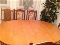 Tavolin me 6 korriga