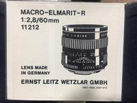 Lens Macro Elmarit -r 60mm  f 2.8