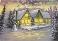 SHITET Piktura pejizazh dimri 70x50cm