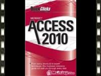 Access 2010 video training.