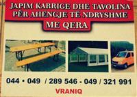 Tavolina Shatorra me qira Vraniq-Therand