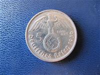 Gjermani 5 Mark 1936 argjend