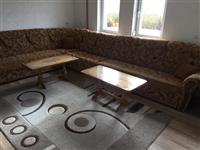 Mobilie salloni dhe 2 tavolina